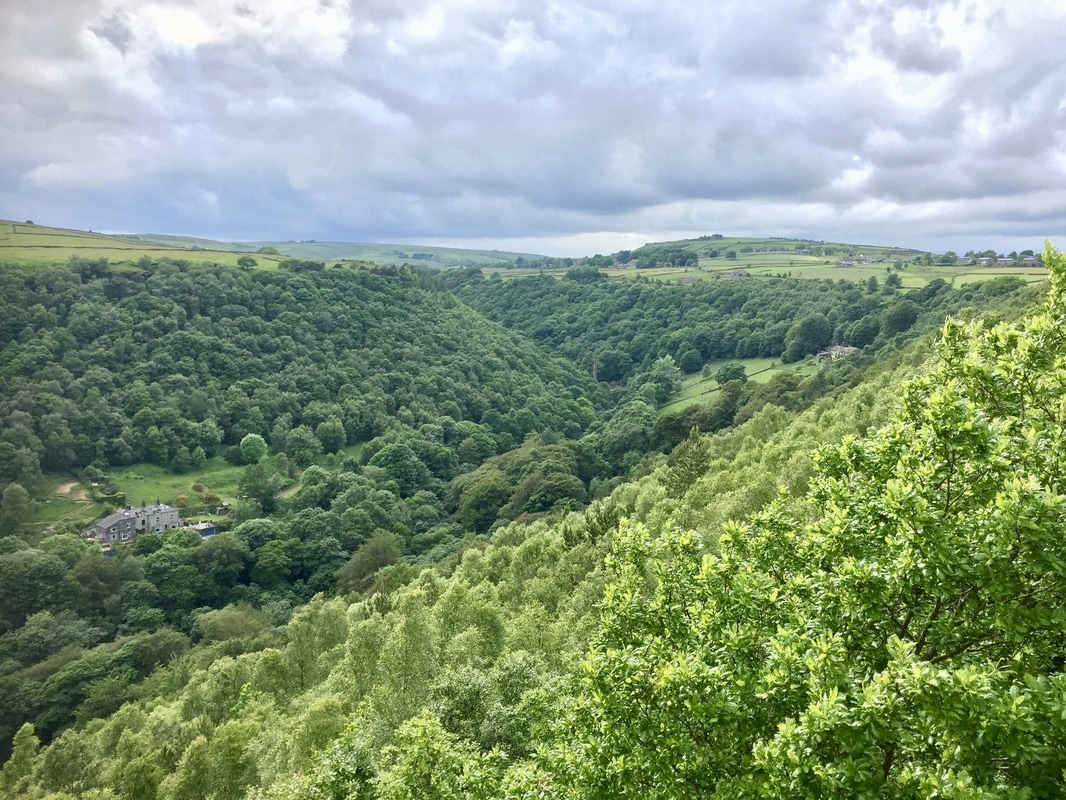 View of valley at Lumb Bank, Yorkshire